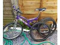 """Mountain bike with off road and hybrid tyres - 24"""" wheels"""