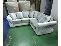 LUXURY SHANNON CORNER CRUSH SOFA and 3 + 2 SEATER SOFA AVAILABLE