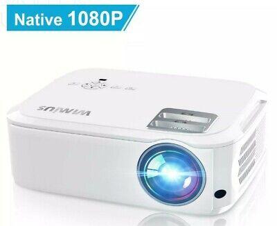 Projector,WiMiUS 5500 Lumens 1080P Native Video Projector Full HD Cream