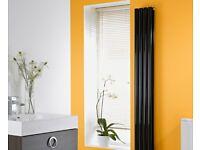 brand new stunning gloss black designer vertical double radiator. Worth £192. 1780 x 236mm.