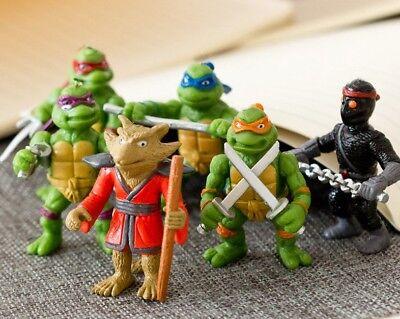 Ninja Turtles Action Figure Doll TV Movie Character Toy for Kids Boys Gift (6p)](Ninja Turtle Movie For Kids)