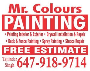 ^Mr.Colours Painting&Wallpaper** 647 918 9714