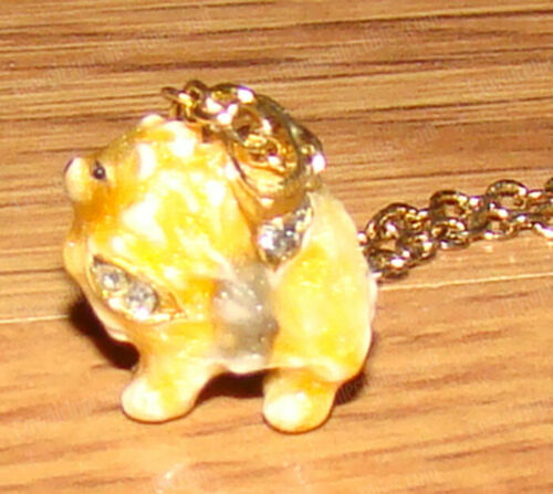 Pomeranian Pendent, Charm (Pedigree Dog Boxes 3988N) Australian Crystals, Enamel