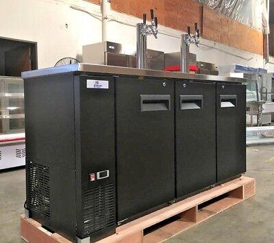 New 72 Beer Tap Dispenser Cooler Depot Uud24-72 Kegerator Nsf Commercial 2 Tap