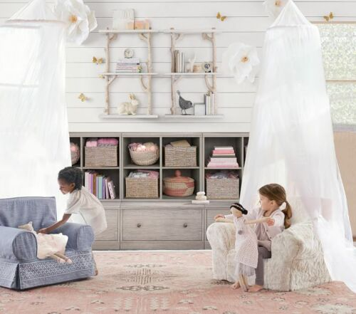 NWOB Bed Canopy Pottery Barn Kids Classic Tulle Canopy White New