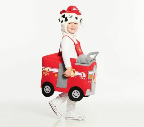 Pottery Barn Kids Paw Patrol 3D Halloween Costume 3T Small Marshall Firefighter