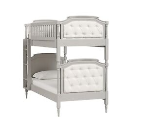 Pottery Barn Blythe Twin Bunk Bed!! - Vintage Gray