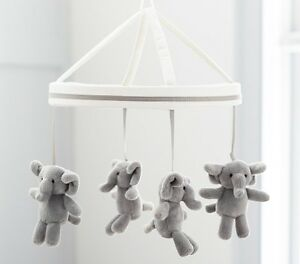 NEW Pottery Barn - Elephant Mobile and Wooden Musical Arm
