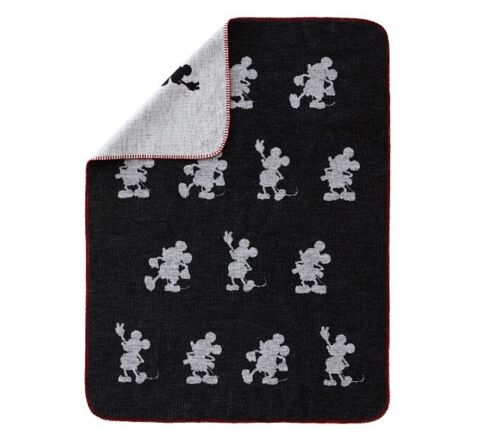 "Disney Mickey Mouse Jacquard Baby Blanket Reversible 30"" x 40"" Pottery Barn Kids"
