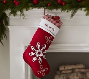 Pottery Barn Snowflakes Quilted Stocking Oakville / Halton Region Toronto (GTA) image 1