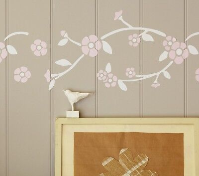 NIP Pottery Barn Kids PBK Floral Border Transfer decals wall art Border Art Transfer