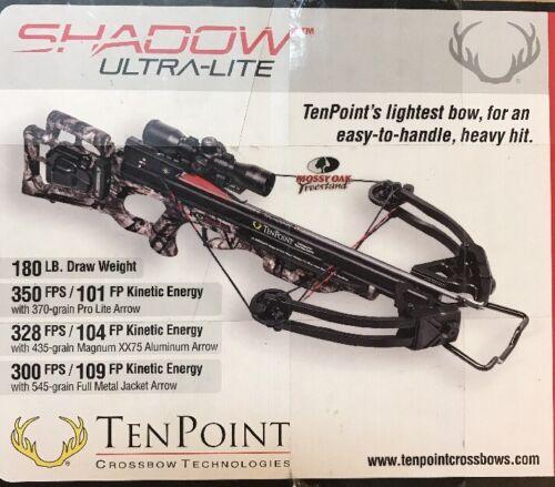 NEW TENPOINT SHADOW ULTRA-LITE CROSSBOW KIT  MODEL # C14018-