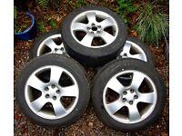 "Original Audi 16"" Alloy Wheels & Tyres (Set of 5) ~ A3 1.8T Sport (Audi/VW/Seat/Skoda)"