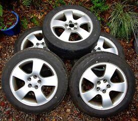 "Original Audi 16"" Alloy Wheels & Tyres (Set of 5) ~ A3 1.8T Sport"