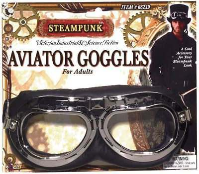 ADULT STEAMPUNK AVIATOR GOGGLES FANCY DRESS - Kostüm Aviator Goggles