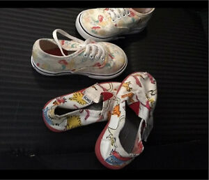 Two pairs toddler girls shoes