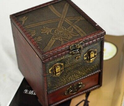 Chinese Vintage Wooden Jewelry Storage Box Treasure Chest Organizer Gift Box (Treasure Chest Gift Box)