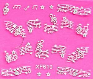 3D_ST Nail Art Stickers Rhinestone Glitter Flower Butterfly Heart Party Tattoo
