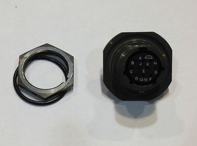 Amphenol 71-533723-10s 10-pin Mil-spec Connector