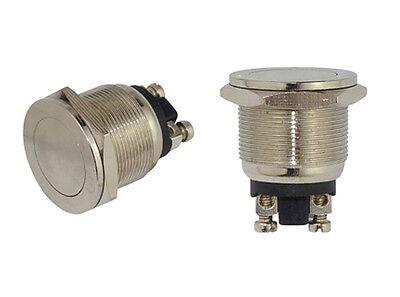 Vollmetall Taster Flach Schraubösen 19mm Öffner 230V/2A Metall 7409