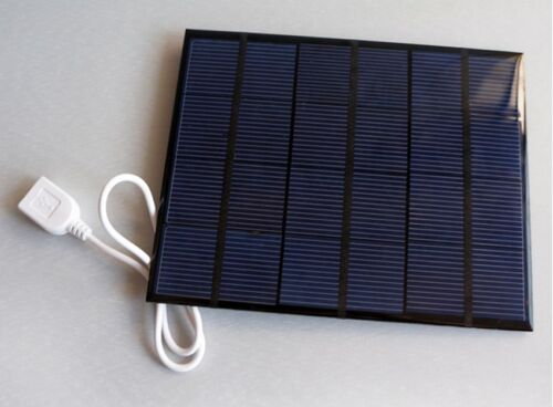 Portable Solar Panel USB Travel Battery Charger 6V 3.5W For MP3 MP4 Mobile IFA