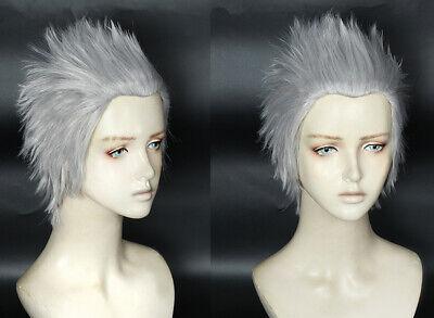 Devil May Cry V 5 Vergil Cosplay Kostüme Costume Silber Grau Perücke wig kurz