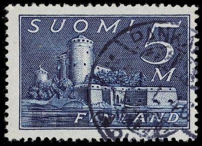 "FINLAND 177i (Mi155b) - Savonlinna Castle ""Indigo Blue"" (pa7293)"