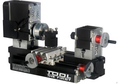 High Power Mini Metal Lathe Soft Metalworking Woodworking Diy Model Making 60w