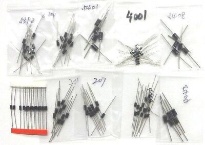 Rectifier Diode Diodes Assortment Kit Bulk Pack 100x 10value