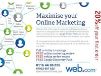 20% off our online Advertising Product Range - PPC, Websites, SEO, Facebook etc
