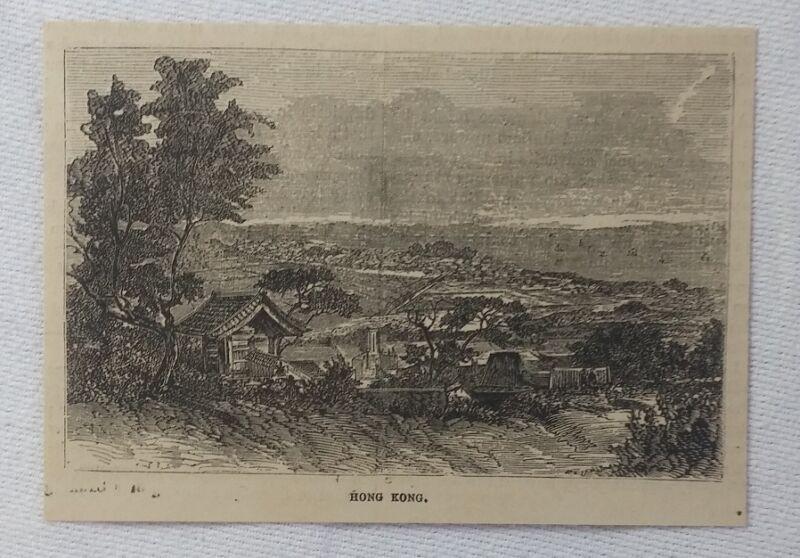 1880 magazine engraving ~ HONG KONG, China