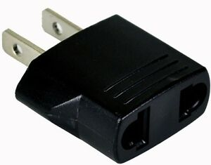 GS10-2-Prong-European-Round-to-American-Flat-Wall-Outlet-Plug-Adapter-NEW