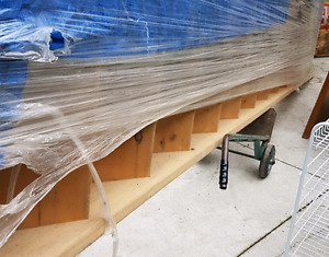 Straight staircase for house building