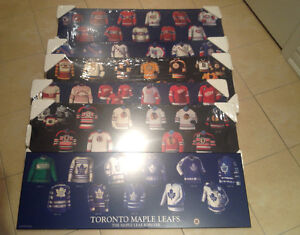 NHL Original Six Hockey Jersey Evolution Poster Boards