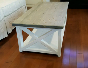 Farmhouse X Frame Coffee Table