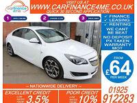 2014 VAUXHALL INSIGNIA CDTI SRI VX LINE GOOD BAD CREDIT CAR FINANCE FR 64 P/WK