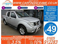 2006 NISSAN NAVARA 2.5 DCI AVENTURA GOOD / BAD CREDIT CAR FINANCE FROM 44 P/WK