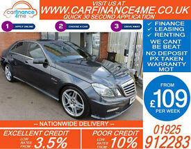 2009 MERCEDES E63 AMG 6.2 GOOD / BAD CREDIT CAR FINANCE FROM 109 P/WK