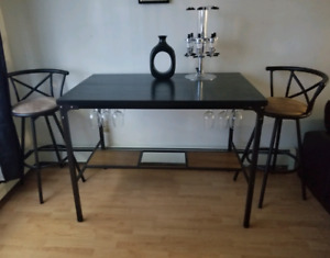 Bar Table, Stools and Dispenser