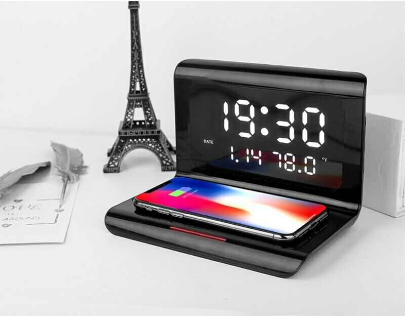 Wireless Charger Alarm Clocks Multitools Wireless Charging Board Home Decoration