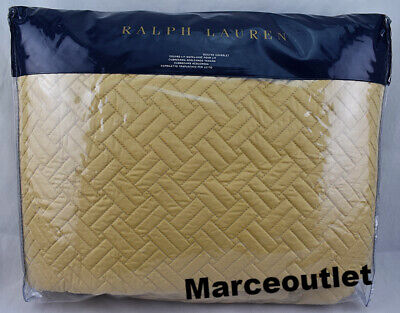 Ralph Lauren Home Greenwich KING Quilted Coverlet Polished Bronze