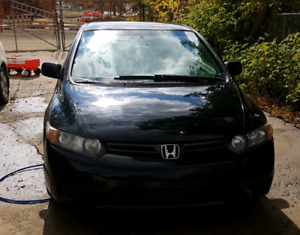 Honda Civic 2 black door only 80000 very clean