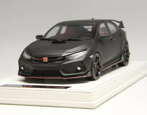 Model Car MOTORHELIX Honda Civic Type R FK8 1/18 Matt Black