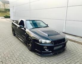 2000 X reg Nissan Skyline R34 2.5 GTT Turbo + GTR Spec Body Styling + Black
