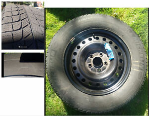"""16"""" steel rims with Winter tires (set of two on rims)"""