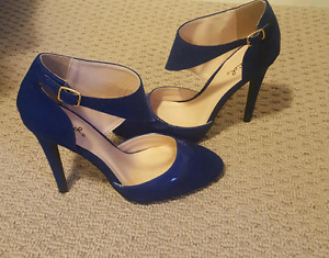 Royal blue suede 6.5 Qupid shoes