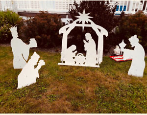 Wooden Nativity Scene. Used once. Handmade.