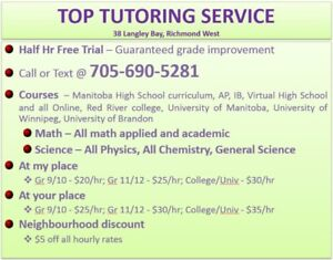 Math, Physics and Chem tutoring at highly affordable rate
