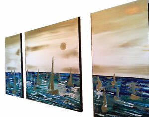 Spring Sale on Sailboat painting Wall Art Acrylic Painting