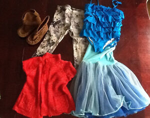 Size 2 - 3T girls clothing. Bag of 36 items.